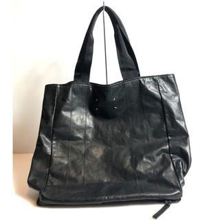 マルタンマルジェラ(Maison Martin Margiela)のメゾンマルタンマルジェラ 11 17AW カーフレザートートバッグ ブラック 鞄(トートバッグ)