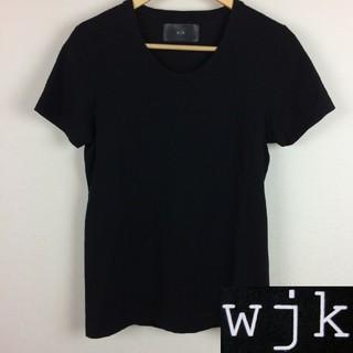 ダブルジェーケー(wjk)の美品 wjk ダブルジェイケイ 半袖Tシャツ ブラック サイズM(Tシャツ/カットソー(半袖/袖なし))