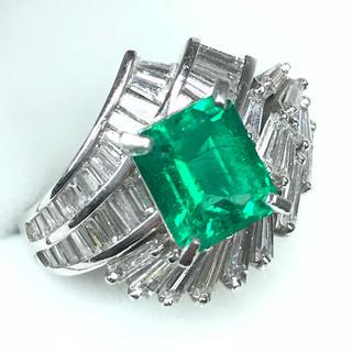 1260 エメラルド 1.89ct ダイヤモンド 1.50ct ptリング11号(リング(指輪))