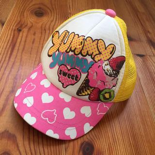 オレンジボンボン(Orange bonbon)のorange bonbon 帽子 キャップ メッシュ 女の子 ピンク 黄色(帽子)