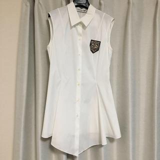 クリスチャンディオール(Christian Dior)のChristian Dior ノースリーブシャツ(シャツ/ブラウス(半袖/袖なし))