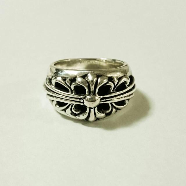 Chrome Hearts(クロムハーツ)のクロムハーツ フローラルクロスリング 美品【中古】 メンズのアクセサリー(リング(指輪))の商品写真