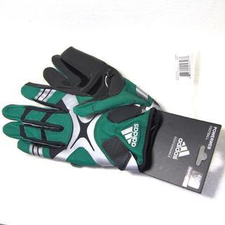 アディダス(adidas)のadidas 新品 Lサイズ PowerWeb グリーン アメフトグローブ タグ(アメリカンフットボール)