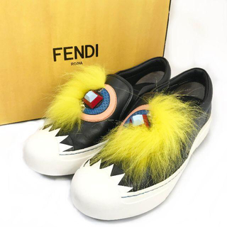 フェンディ(FENDI)の極美品 フェンディ モンスター ファー スニーカー 希少 JN125(スニーカー)