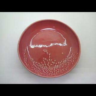 ジェンガラ(Jenggala)のバリ  ジェンガラケラミック 皿 ピンク 稲穂柄(食器)