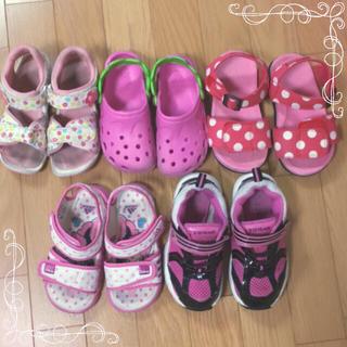 ミキハウス(mikihouse)のサンダル&靴5足セット♡17.0㎝〜♡ミキハウス/adidas(サンダル)