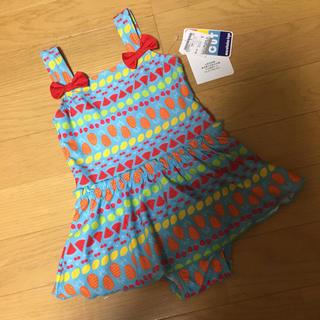 キッズフォーレ(KIDS FORET)の新品 キッズフォーレ 100cm 水着 女の子 子供 キッズ フルーツ柄(水着)