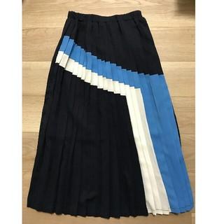 ジェットセット(JET SET)の美品 Jetset Solo Plus ネイビープリーツスカート Fサイズ(ロングスカート)