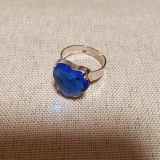 ハート リング ブルー(リング(指輪))