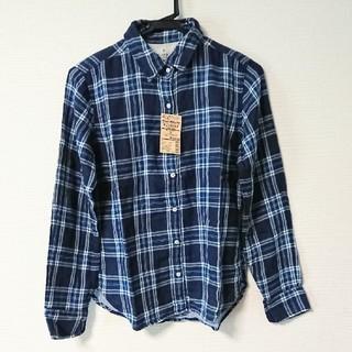 ムジルシリョウヒン(MUJI (無印良品))の新品無印良品チェックシャツSスカイブルー(シャツ/ブラウス(長袖/七分))
