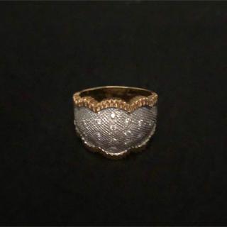クラウンデザイン👑K18 ダイヤ入りリング(リング(指輪))