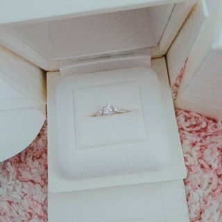 ミキモト(MIKIMOTO)のほぼ新品♡ MIKIMOTO 婚約指輪 プラチナ 0.42ct ダイヤモンド(リング(指輪))