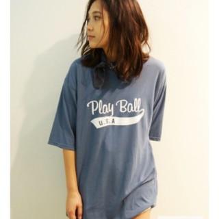 アングリッド(Ungrid)の古着ぽい大きめt シャツ(Tシャツ/カットソー(半袖/袖なし))
