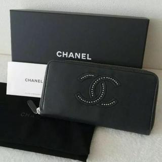 シャネル(CHANEL)のCHANEL ココマーク ラムスキン 長財布(財布)