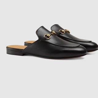 グッチ(Gucci)の[GUCCI ]プリンスタウン レザースリッパ(ローファー/革靴)