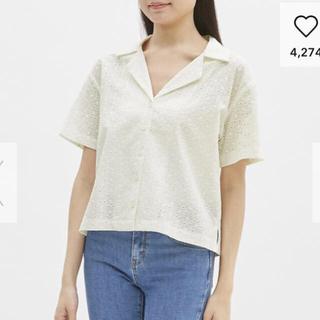 ジーユー(GU)のGU 今季 レースオープンカラーシャツ misaki様(シャツ/ブラウス(半袖/袖なし))