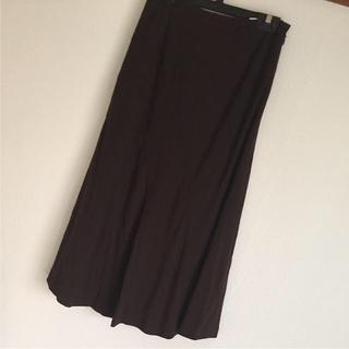 ブラウンスカート&シャツ(ロングスカート)