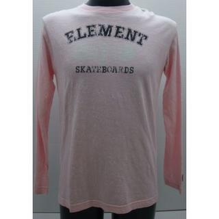 エレメント(ELEMENT)の*0059・ELEMENT エレメント 長袖Tシャツ ピンク Sサイズ(Tシャツ/カットソー(七分/長袖))