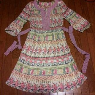 アーモワールカプリス(armoire caprice)のユキエコ様専用 英国製七分袖ワンピース(ひざ丈ワンピース)