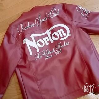ノートン(Norton)のNorton革ジャン赤茶 内側に模様あり(ライダースジャケット)