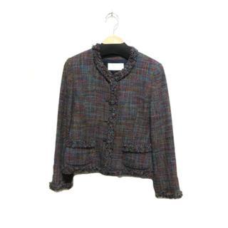 コルディア(CORDIER)のコルディア セットアップ ジャケット スカート スーツ 紫 上40 下42(スーツ)