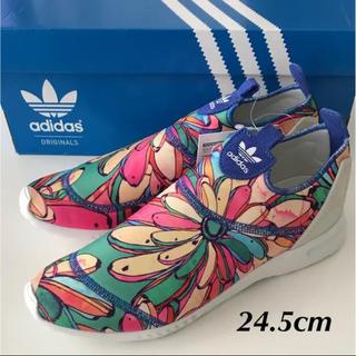 アディダス(adidas)の希少★adidas×farm コラボ 花柄 軽量 スリッポン 24.5cm(スニーカー)