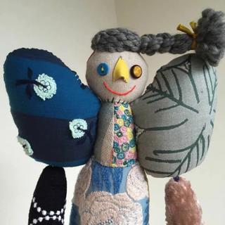 ミナペルホネン(mina perhonen)のミナペルホネン  人形 patch ぬいぐるみ 女の子 rosas blue(その他)