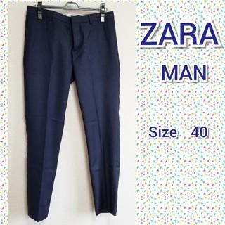 ZARA - ZARA MAN ネイビー パンツ