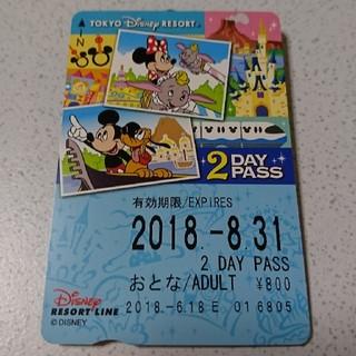 ディズニー(Disney)のディズニーリゾートライン2day pass(鉄道乗車券)