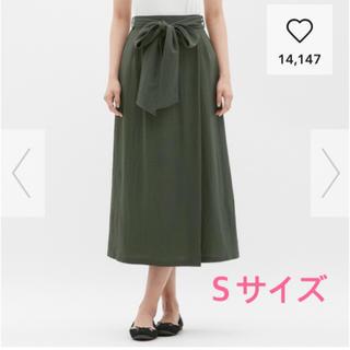ジーユー(GU)のカットソーウエストリボンロングスカート(ロングスカート)