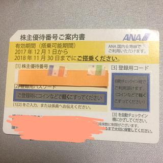 エーエヌエー(ゼンニッポンクウユ)(ANA(全日本空輸))のANA 株主優待券1枚(その他)