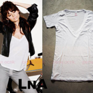 エルエヌエー(LnA)のLnA Tシャツ  白  ニコールリッチー(Tシャツ(半袖/袖なし))