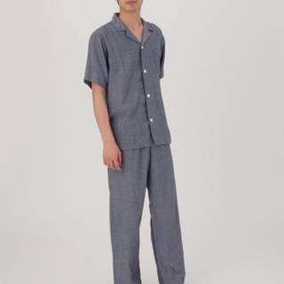 MUJI (無印良品) - 脇に縫い目のない細番手二重ガーゼ 半袖パジャマ・紳士M