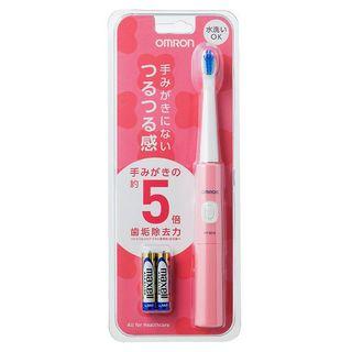 オムロン(OMRON)の●新品未使用 オムロン OMRON 音波式電動歯ブラシ HTB210-PK (歯ブラシ/デンタルフロス)