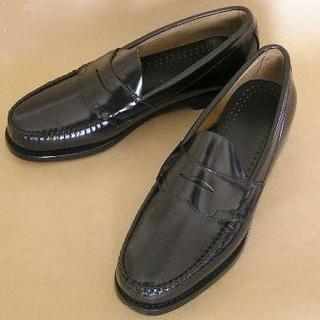 ジーエイチバス(G.H.BASS)のG.H.Bass U.S.A コインローファーLogan 黒本革 27cm(ドレス/ビジネス)