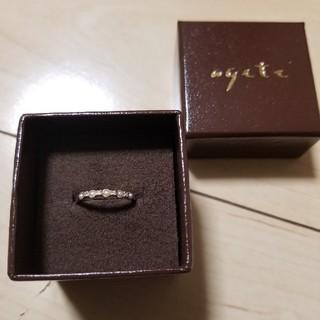 アガット(agete)のagete K10パールリング1号 中古品(リング(指輪))
