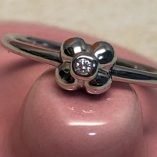ポンテヴェキオ(PonteVecchio)の☆超美品☆ポンテヴェキオ K18WG お花 ダイヤモンド リング(リング(指輪))