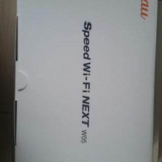 エーユー(au)のSpeed Wi-Fi NEXT W05(その他)