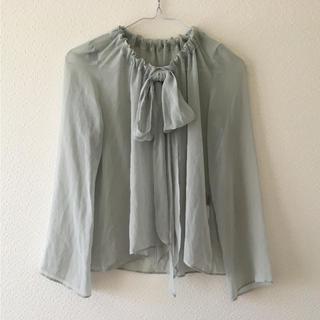 オルタナティブバージョンダブルアール(alternative version WR)のシャツ ブラウス トップス WR 水色 フリーサイズ(シャツ/ブラウス(長袖/七分))