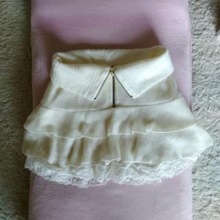 アンズ(ANZU)の白 スカート(ミニスカート)