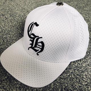 クロムハーツ(Chrome Hearts)の新品☆クロムハーツ/帽子 ベースボールキャップ ホワイト CHロゴ 刺繍(キャップ)