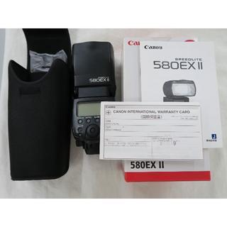 キヤノン(Canon)のキヤノン Canon ストロボ580EXⅡ 580EX2 送料込(ストロボ/照明)