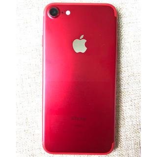 アップル(Apple)のhirokun様専用  iPhone7 128GB RED Softbank (スマートフォン本体)