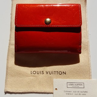 ルイヴィトン(LOUIS VUITTON)のルイヴィトン コインケース ヴェルニ 赤 美品(コインケース)