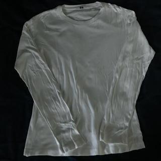ユニクロ(UNIQLO)の長袖Tシャツ 白(Tシャツ/カットソー(七分/長袖))