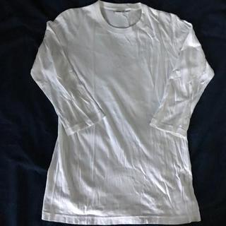 ユニクロ(UNIQLO)の7部丈Tシャツ 白(Tシャツ/カットソー(七分/長袖))