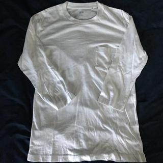 ユニクロ(UNIQLO)のポケツキ7部丈Tシャツ(Tシャツ/カットソー(七分/長袖))