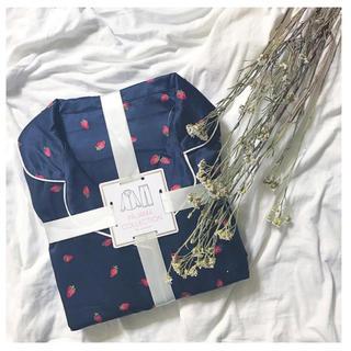 ジーユー(GU)のGU パジャマ いちご柄 半袖(パジャマ)