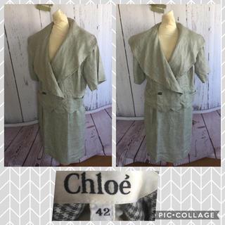 クロエ(Chloe)のchloe クロエ 麻サマースーツ 大きいサイズ 42(スーツ)