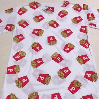 ファンキーフルーツ(FUNKY FRUIT)のふぁんきーふるーつ ポテト柄 Tシャツ(Tシャツ(半袖/袖なし))